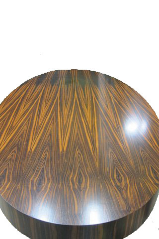 Zebra Wood Table  Weber Furniture Service LLC Chicago