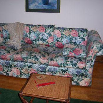 Residential Reupholstery Project—Before