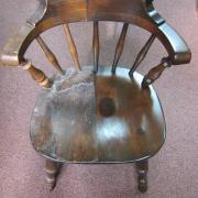 captain's chair wood refinish